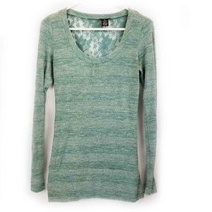 Rue21 Green Long Sleeve Medium T-shirt Metallic